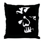 Macabre Skull Throw Pillow