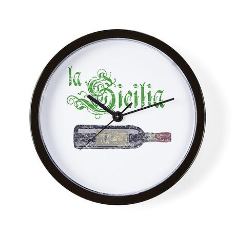 La Sicilia Vintage Wine Wall Clock