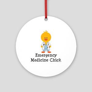 Emergency Medicine Chick Ornament (Round)