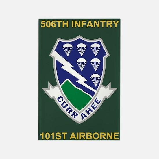506th Infantry Regiment Rectangle Magnet