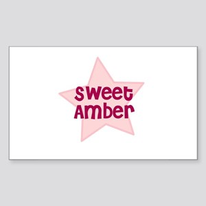 Sweet Amber Rectangle Sticker