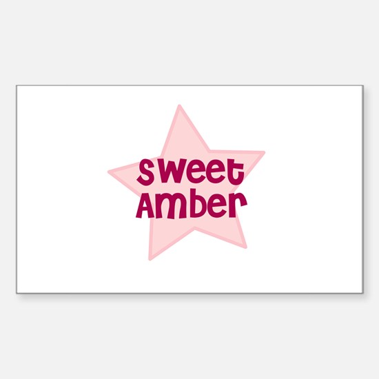 Sweet Amber Rectangle Decal