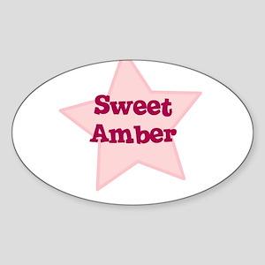 Sweet Amber Oval Sticker