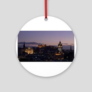 Illuminated Edinburgh Ornament (Round)