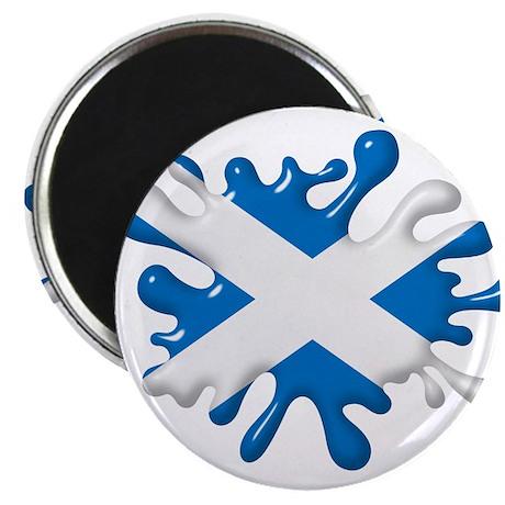 "Splash Flag of Scotland 2.25"" Magnet (10 pack)"