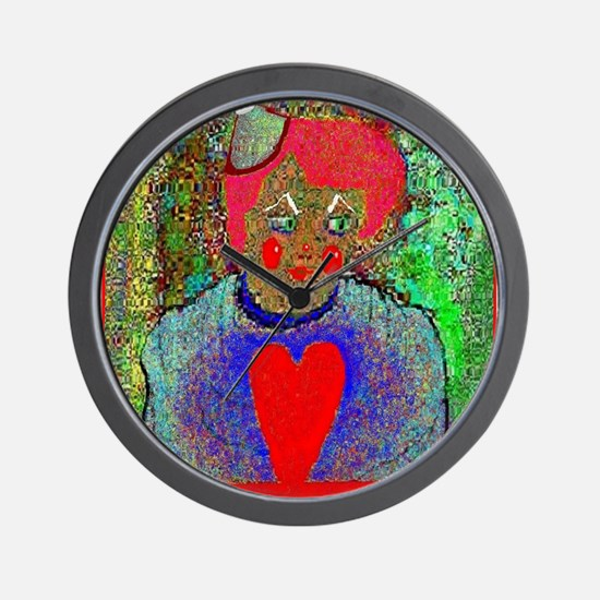 A Clown Has Feelings Wall Clock