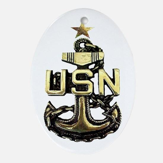 Senior Chief Anchor Oval Ornament