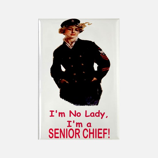 Lady? No, Senior Chief Rectangle Magnet