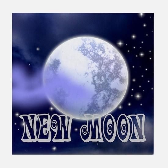 New Moon Night Sky Tile Coaster