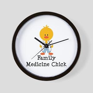 Family Medicine Chick Wall Clock