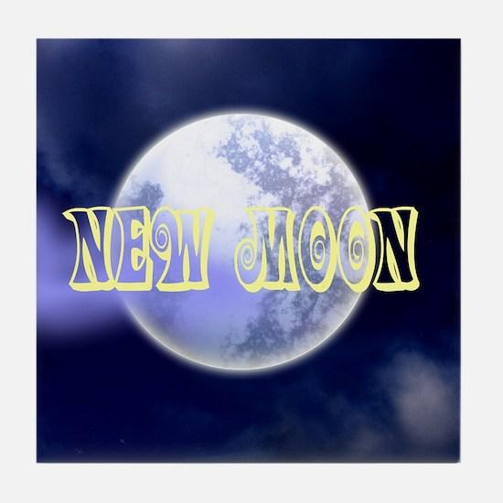 New Moon Tile Coaster