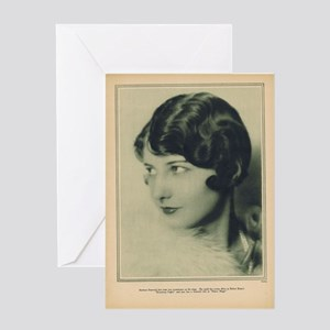 Barbara Stanwyck 1927 Greeting Card