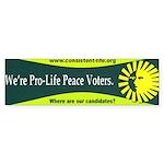 Pro-Life Peace Voters Bumper Sticker (50 pk)