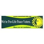 Pro-Life Peace Voters Bumper Sticker (10 pk)
