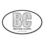 Before Clark Oval Sticker
