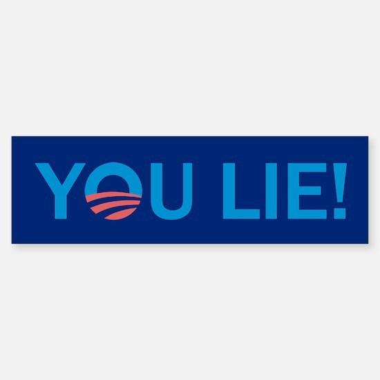You Lie Anti Obama Bumper Bumper Bumper Sticker