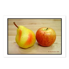 Pear Apple 2 Postcards (Package of 8)
