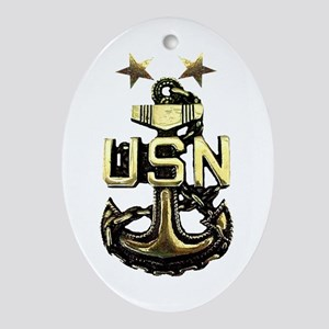 Master Chief Anchor Oval Ornament