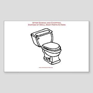 Body Disposal Rectangle Sticker