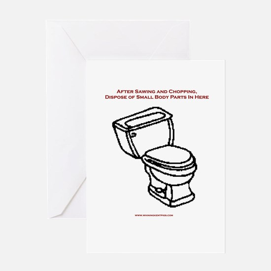 Body Disposal Greeting Card