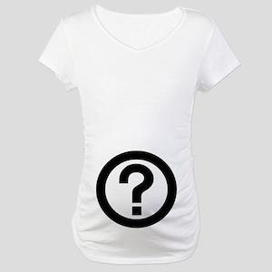 Question Mark Maternity T-Shirt