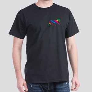 dressage horse rainbow Black T-Shirt