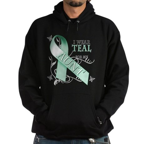I Wear Teal for my Aunt Hoodie (dark)