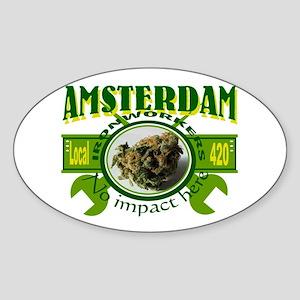 AMSTERDAM IRONWORKERS Oval Sticker