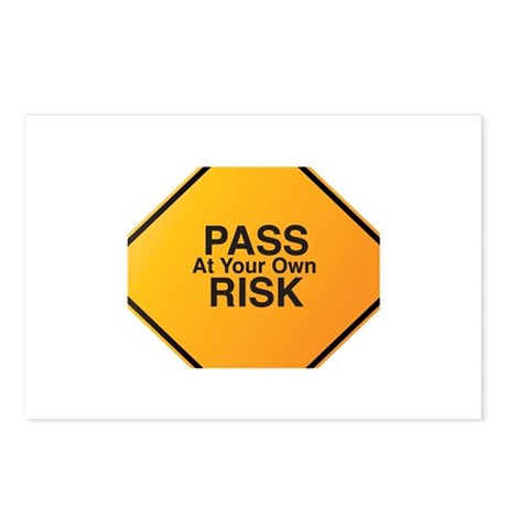 Pass At Your Own Risk Postcards (Package of 8)