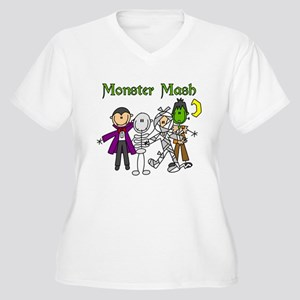 Monster Mash Women's Plus Size V-Neck T-Shirt
