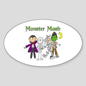 Monster Mash Oval Sticker