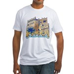 White Fitted Sana'a T-Shirt
