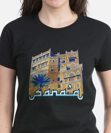 Women's (black/blue/lavender) Sana'a T-Shirt