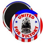 Railroads For Victory Magnet