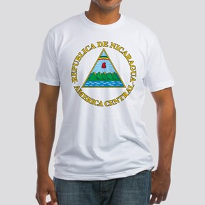 Nicaragua Coat Of Arms Fitted T-Shirt