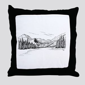 Glacier Park Throw Pillow