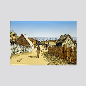 Plimoth Plantation Rectangle Magnet