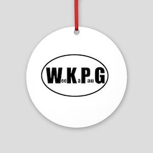 WeeKaPauG Euro Oval Ornament (Round)