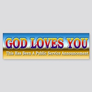 Public Service Announcement - Bumper Sticker