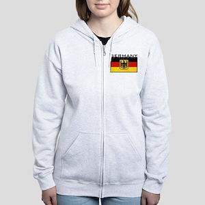 German Flag Women's Zip Hoodie