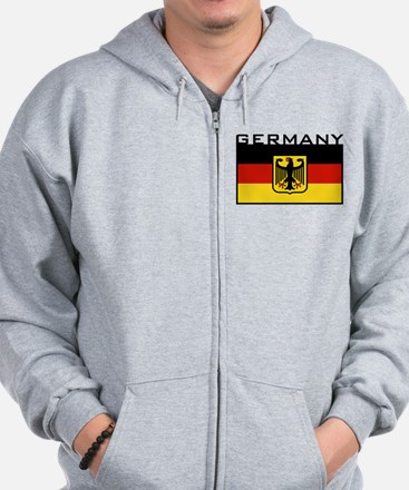 German Flag Zip Hoody