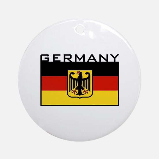 German Flag Ornament (Round)