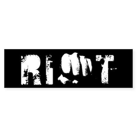 fist riot design Bumper Sticker (10 pk)