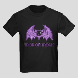 Halloween Rhinestone Bat Kids Dark T-Shirt