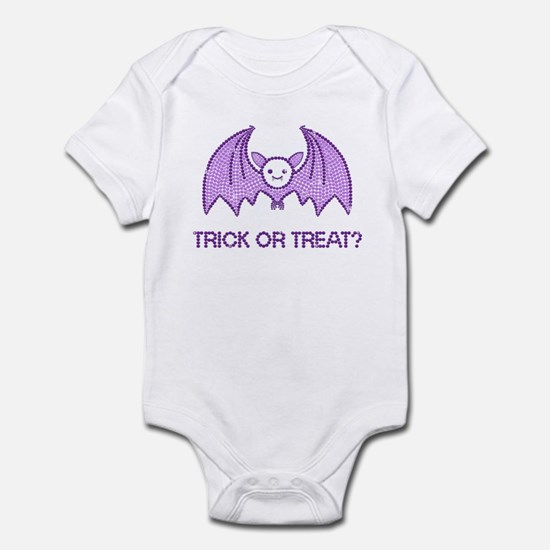 Halloween Rhinestone Bat Infant Bodysuit