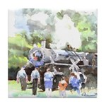Steam Locomotive Tile Coaster