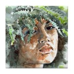 Hawaiian Woman Tile Coaster