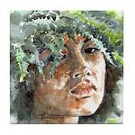 Hawaiian Woman Tile Coaster