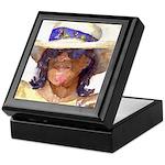 Woman in Hat Keepsake Box