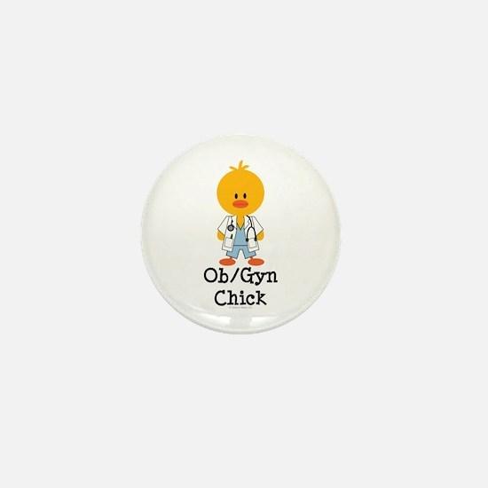 OB/GYN Chick Mini Button